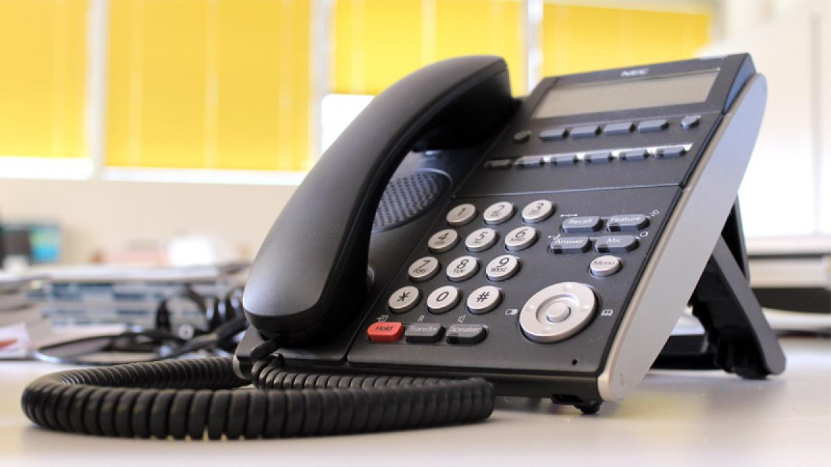 IMPORTANT NOTICE: PHONE LINES DOWN