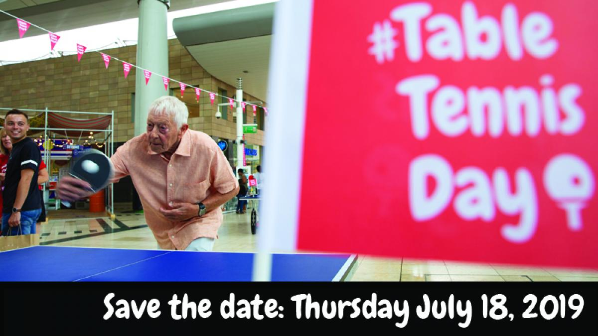 Save the date for #TableTennisDay