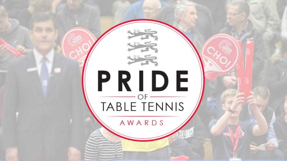 Shortlist revealed for Pride of Table Tennis Awards